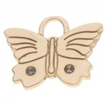 pet id tag butterfly1 gold jpg