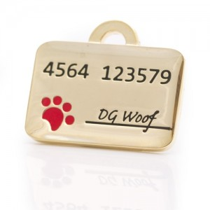 pet id tag credit card gold jpg
