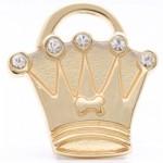 pet id tag crown gold mini jpg