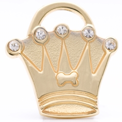 pet id tag crown gold mini jpg