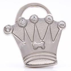 pet id tag crown silver mini jpg