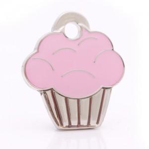 pet id tag cupcake silver jpg