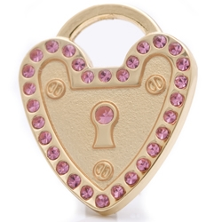 pet id tag padlock heart gold mini jpg