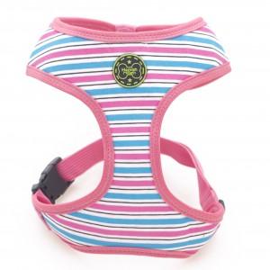 dog harness pink stripe jpg